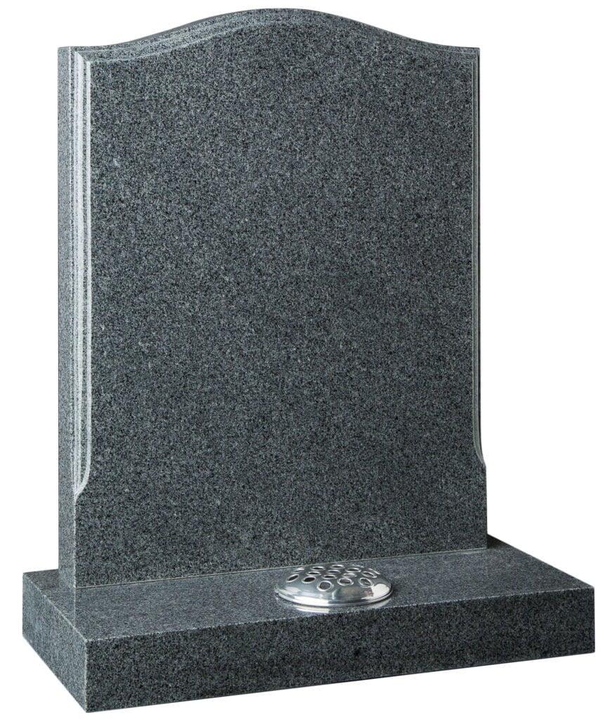 Grey headstone. Funeral. Grave. Burial. BWF Humphries Stonemasons, Wood Burning Stoves, Granite Worktops, Quartz Worktops. Hungerford, Newbury, Marlborough.